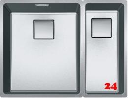 FRANKE Küchenspüle Centinox CMX 160-34/-17-UB Einbauspüle / Unterbauspüle mit Drehknopfventil