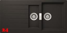 Schock Küchenspüle Primus D-150 Cristalite® Granitspüle / Einbauspüle Basic Line in 4 Farben mit Drehexcenter