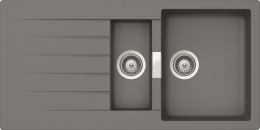 Schock Primus D 150 Cristalite® Granitspüle / Einbauspüle in 4 Farben mit Drehexcenter