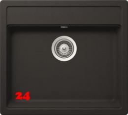 Schock Küchenspüle Nemo N-100 Cristalite® Granitspüle / Einbauspüle Basic Line in 4 Farben mit Drehexcenter