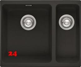 FRANKE Kubus KBG 160-UB Fragranit+ Granitspüle / Unterbauspüle mit Zugknopfventil