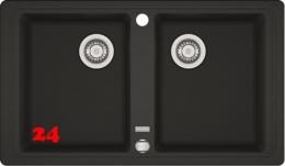 FRANKE Küchenspüle Basis BFG 620 Fragranit+ Einbauspüle / Granitspüle Doppelbecken mit Drehknopfventil