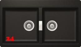 SCHOCK Doppelbecken Horizont N-200 Cristadur® Nano-Granitspüle / Einbauspüle in 4 Farben mit Drehexcenter