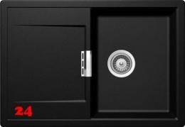 SCHOCK Küchenspüle Mono D-100S Cristadur® Nano-Granitspüle / Einbauspüle in 9 Farben mit Drehexcenter