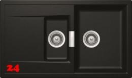 SCHOCK Küchenspüle Mono D-150 Cristadur® Nano-Granitspüle / Einbauspüle in 9 Farben mit Drehexcenter