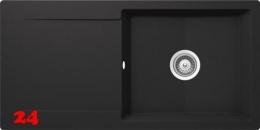 SCHOCK Küchenspüle Epure D-100L Cristalite® Granitspüle / Einbauspüle Basic Line in 4 Farben mit Drehexcenter
