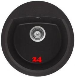 SCHOCK Manhattan R-100 Cristalite® Granitspüle / Rundbecken in 4 Farben mit Drehexcenter