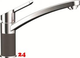 SCHOCK Küchenarmatur SC-90 Cristalite® Basic Line Einhebelmischer Festauslauf 360° schwenkbarer Auslauf mit Materialhülse in 4 Farben