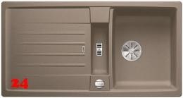 BLANCO Lexa 5 S Silgranit® PuraDur®II Granitspüle / Einbauspüle Ablaufsystem InFino mit Drehknopfventil