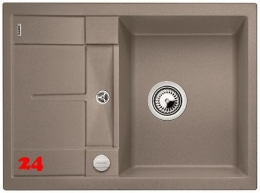 BLANCO Küchenspüle Metra 45 S Compact Silgranit® PuraDur®II Granitspüle / Einbauspüle mit Drehknopfventil in 9 Farben