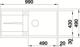 BLANCO Metra XL 6 S-F-FL