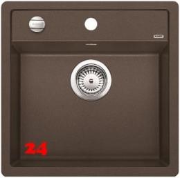 BLANCO Küchenspüle Dalago 5 F Silgranit® PuraDur®II Granitspüle Flächenbündig mit Hahnlochbank und Drehknopfventil
