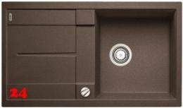 BLANCO Küchenspüle Metra 5 S-F Silgranit® PuraDur®II Granitspüle Flächenbündig mit Drehknopfventil in 7 Farben