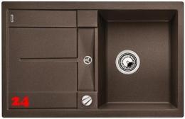 BLANCO Küchenspüle Metra 45 S-F Silgranit® PuraDur®II Granitspüle Flächenbündig mit Drehknopfventil in 7 Farben