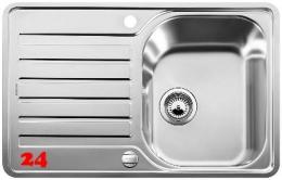 {LAGER} BLANCO Küchenspüle Lantos 45 S-IF Compact Edelstahlspüle / Einbauspüle Flachrand mit Siebkorb als Drehknopfventil