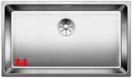 BLANCO Küchenspüle Andano 700-IF Edelstahlspüle / Einbauspüle Flachrand mit Ablaufsystem InFino und Handbetätigung