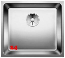 BLANCO Küchenspüle Andano 450-U Edelstahlspüle / Unterbaubecken mit Ablaufsystem InFino und Handbetätigung