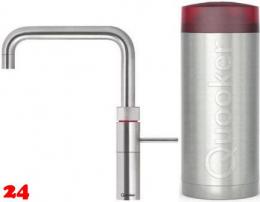 QUOOKER FUSION Square Combi Einhebelmischer Edelstahl & 100°C Armatur Kochendwasserhahn (22FSRVS)