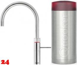 QUOOKER FUSION Round Combi Einhebelmischer Chrom & 100°C Armatur Kochendwasserhahn (22FRCHR)