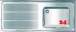 FRANKE Maxima MAXS 117-140-BR Gewerbespüle Auflage / Abdeckung für Spültisch Becken rechts (1400x600mm)