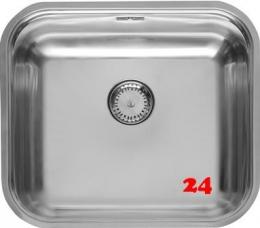 REGINOX Küchenspüle Colorado Comfort (R) Einbauspüle Edelstahl mit Einbaurand Siebkorb als Stopfenventil
