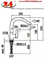 ARWA Curveprime 9.32030.100.000 Chrom
