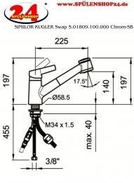 SIMILOR KUGLER Swap 5.01809.100.000 Chrom-SB