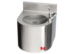 FRANKE Anima Trinkbrunnen ANMX304 für Wandmontage mit Druckknopf-Trinksprudler DN 15 und Eckventil