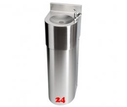 FRANKE Anima Trinkbrunnen ANMX303 für Wandmontage mit Druckknopf-Trinksprudler DN 15 und Eckventil