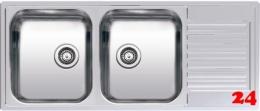{LAGER} REGINOX Küchenspüle Centurio 30 (L) KGOKG Einbauspüle Edelstahl Doppelspüle mit Flachrand Siebkorb als Stopfenventil