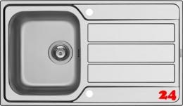 PYRAMIS Küchenspüle Athena (86x50) 1B 1D Einbauspüle / Edelstahlspüle Siebkorb als Drehknopfventil