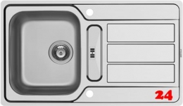 PYRAMIS Küchenspüle Athena (86x50) 1 1/4B 1D FB Einbauspüle Flachrand / Flächenbündig Siebkorb als Drehknopfventil