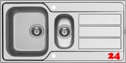 PYRAMIS Küchenspüle Athena Extra (100x50) 1 1/2B 1D Einbauspüle / Edelstahlspüle Siebkorb als Drehknopfventil