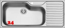PYRAMIS Küchenspüle Titan (116x50) 1B 1D Einbauspüle / Edelstahlspüle Siebkorb als Stopfenventil