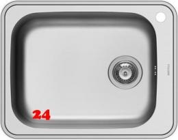 PYRAMIS Küchenspüle Space Plus 1B Einbauspüle / Edelstahlspüle Siebkorb als Stopfenventil