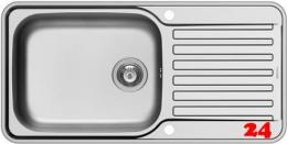 PYRAMIS Küchenspüle Space Plus 1B 1D Einbauspüle / Edelstahlspüle Siebkorb als Drehknopfventil