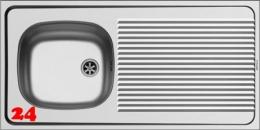 PYRAMIS Küchenspüle International Auflagespüle (100x50) 1B 1D NARROW Montage auf Unterschrank
