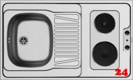 PYRAMIS Küchenspülelement / Pantryabdeckung (100x60) 1B 1D ELEKTRO Montage auf Unterschrank