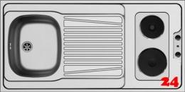 PYRAMIS Küchenspülelement / Pantryabdeckung (120x60) 1B 1D ELEKTRO Montage auf Unterschrank