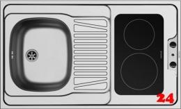 PYRAMIS Küchenspülelement / Pantryabdeckung (100x60) 1B 1D CERAN Montage auf Unterschrank