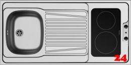 PYRAMIS Küchenspülelement / Pantryabdeckung (120x60) 1B 1D CERAN Montage auf Unterschrank