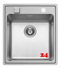 PYRAMIS Küchenspüle Pella (47x52) 1B HLB Einbauspüle Flachrand / Flächenbündig mit Drehknopfventil