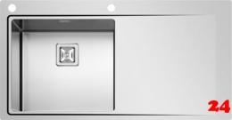 PYRAMIS Küchenspüle Olynthos (100x52) 1B 1D LH Einbauspüle Flachrand / Flächenbündig mit Drehknopfventil