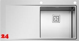 {Lager} PYRAMIS Küchenspüle Olynthos (100x52) 1B 1D RH Einbauspüle Flachrand / Flächenbündig mit Drehknopfventil
