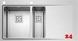 PYRAMIS Küchenspüle Olynthos (100x52) 1 1/2B 1D LH Einbauspüle Flachrand / Flächenbündig mit Drehknopfventil