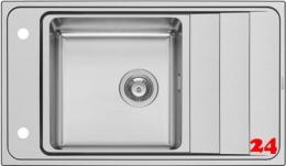 PYRAMIS Küchenspüle Studio (86x50) 1B 1D Einbauspüle / Edelstahlspüle mit Drehknopfventil