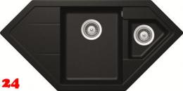 SCHOCK Küchenspüle Signus C-150 Cristadur® Nano-Granitspüle / Eckspüle in 4 Farben mit Drehexcenter