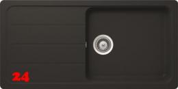 SCHOCK Formhaus D-100L Cristalite® Granitspüle / Einbauspüle in 4 Farben mit Drehexcenter