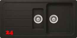 SCHOCK Formhaus D-150L Cristalite® Granitspüle / Einbauspüle in 4 Farben mit Drehexcenter