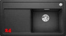 BLANCO Zenar 5 S HSB Silgranit® PuraDur®II Granitspüle / Einbauspüle Ablaufsystem InFino mit Drehknopfventil